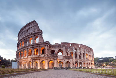 Colosseum At Sunrise Rome Italy Poster