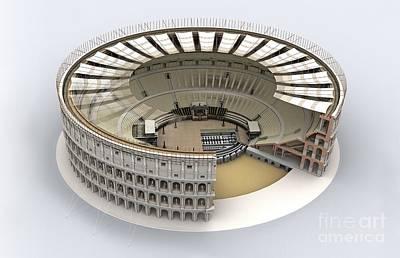 Colosseum In Rome, Artwork Poster by Jose Antonio Pe??as