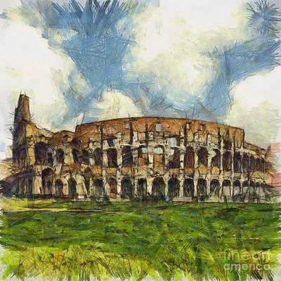 Colosseum Pencil Poster