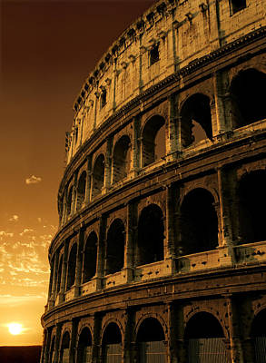 Colosseum Sunrise Poster by Ron Sumners