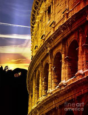 Colosseum Sunset Poster by Stefano Senise