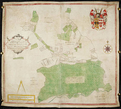 Coloured Map Of An Estate In Lower Lye Poster by British Library