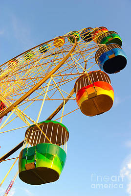 Colourful Ferris Wheel Poster