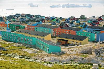 Colourful Houses In Ilulissat Poster by Ashley Cooper