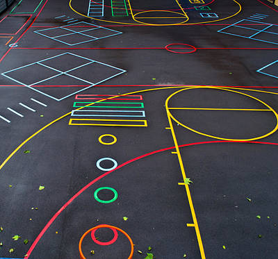 Colourful School Playground Poster by Georgina Noronha