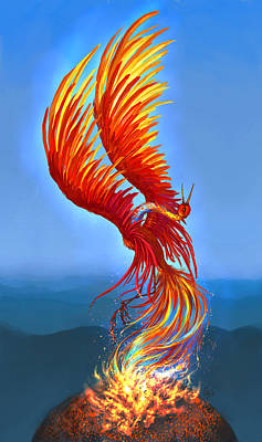 Colours Of Fire Poster by Katerina Romanova