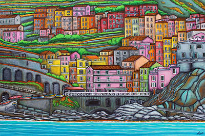 Colours Of Manarola Poster by Lisa  Lorenz
