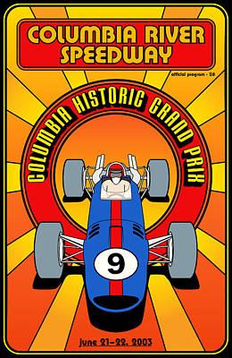 Columbia Historic Grand Prix Poster by Georgia Fowler