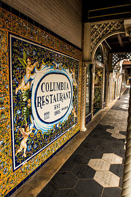 Columbia Restaurant Poster by William  Carson Jr