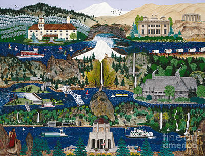Columbia River Gorge Poster by Jennifer Lake