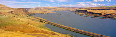 Columbia River In Oregon, Viewed Poster by Panoramic Images