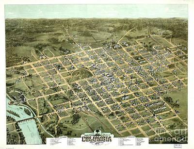Columbia South Carolina 1872 Poster