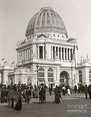 Poster featuring the photograph Columbian Exposition Chocolat 1893 by Martin Konopacki Restoration