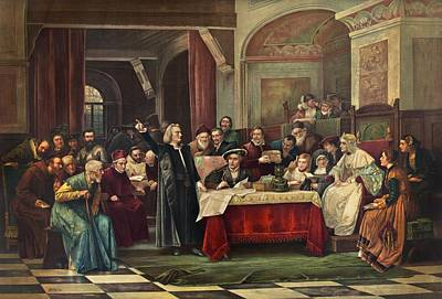 Columbus At Spain's Royal Court, May Poster by Science Photo Library