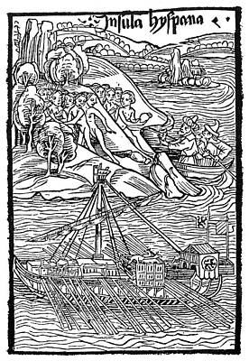 Columbus Hispaniola, 1492 Poster by Granger