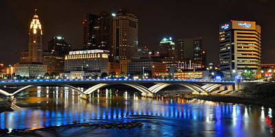 Columbus Ohio Panorama Poster by Frozen in Time Fine Art Photography