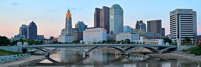 Columbus Panorama Poster by Frozen in Time Fine Art Photography