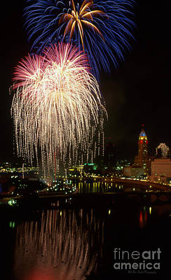 Columbus Red White And Boom Poster