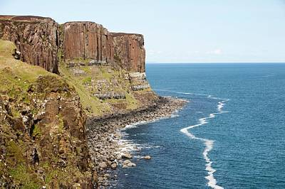 Columnar Jointing In Basalt Sea Cliffs Poster by Ashley Cooper