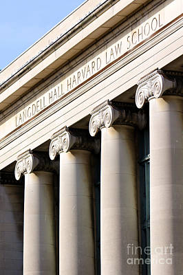 Columns And Writing At Harvard Law School Poster