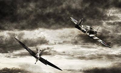 Combat Spitfires Poster