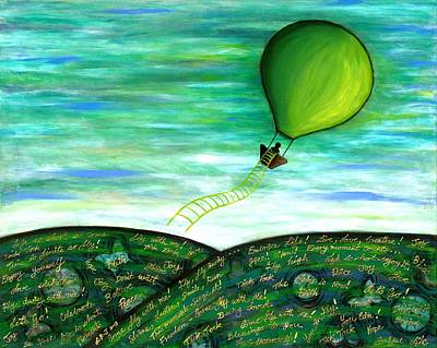 Come Fly With Me Poster by Lisa Frances Judd