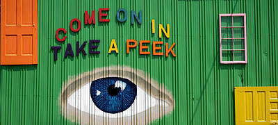 Come On In Take A Peek Poster