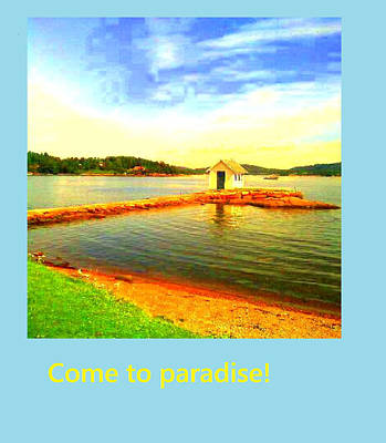Come To Paradise And Be Happy Forever  Poster