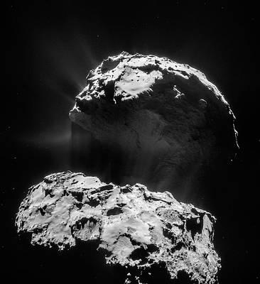 Comet 67p Churyumov-gerasimenko Poster by Rosetta/navcam/esa