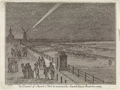 Comet Above Amsterdam, The Netherlands, 1769 Poster by Artokoloro