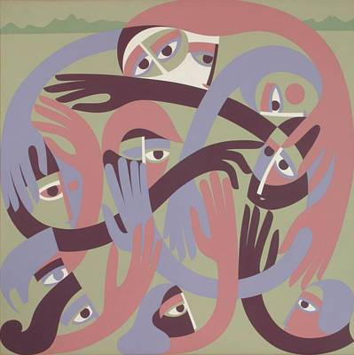 Comforters, 1983 Acrylic On Board Poster by Ron Waddams