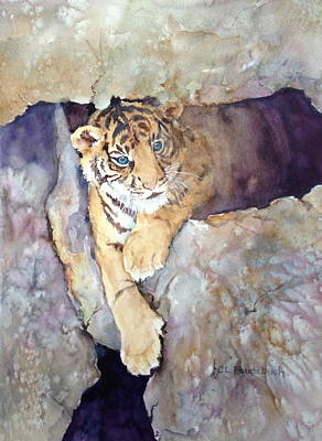 Tiger Cub Poster by Cynthia Roudebush