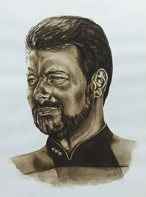 commander William Riker Star Trek TNG Poster by Giulia Riva