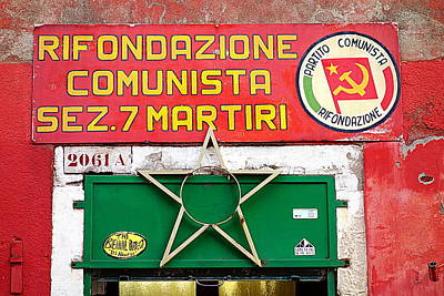 Commie Sign Poster by Valentino Visentini