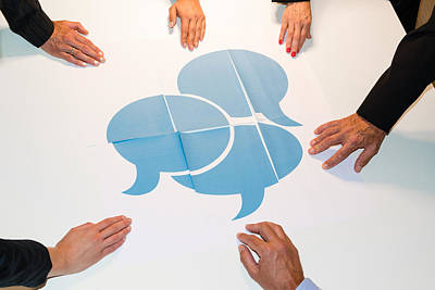 Communication - Speech Bubbles Poster