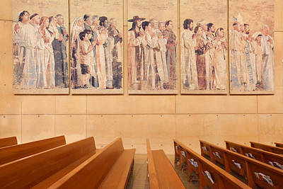 Poster featuring the photograph Communion Of Saints - Cathedral Of Our Lady Of The Angels Los Angeles California by Ram Vasudev
