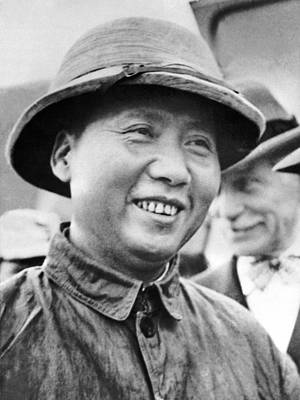 Communist Leader Mao Tse-tung Poster by Underwood Archives