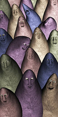 Poster featuring the digital art Community by Gabiw Art