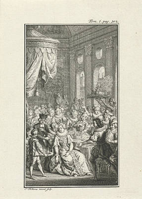 Company At A Banquet, Jacob Folkema Poster by Jacob Folkema