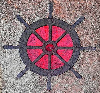 Compass Wheel Poster by Anthony Dalton
