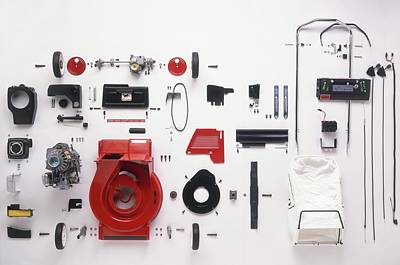Component Parts Of Lawn Mower Poster