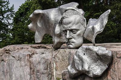 Composer Jean Sibelius - Pipe Monument - Helsinki Finland Poster by Jon Berghoff