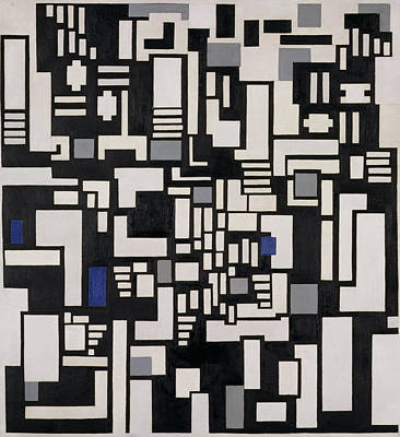 Composition Ix, Opus 18, 1917 Poster by Theo van Doesburg