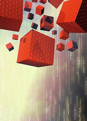 Computer Firewalls Poster by Victor Habbick Visions