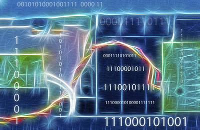 Computing - Fractalius 2 Poster by Steve Ohlsen