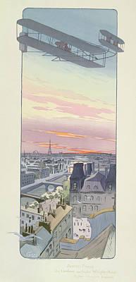 Comte Charles De Lambert Flying Poster by Marguerite Montaut
