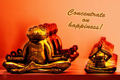 Concentrate On Happiness Poster