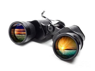 Conceptual Binoculars Poster by Sinisa Botas