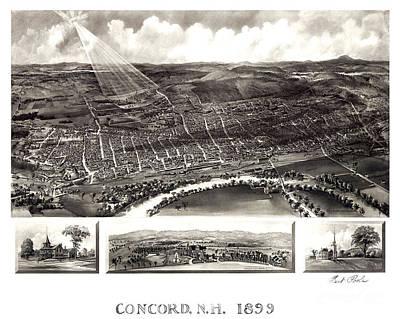Concord - New Hampshire - 1899 Poster by Pablo Romero