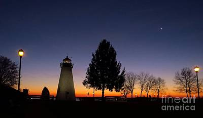 Concord Point Lighthouse Before Dawn Poster by Rrrose Pix